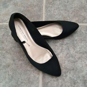 Christian Siriano pointed toe black flats